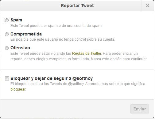 Twitter añade funcionalidad para denunciar tweets de forma individual
