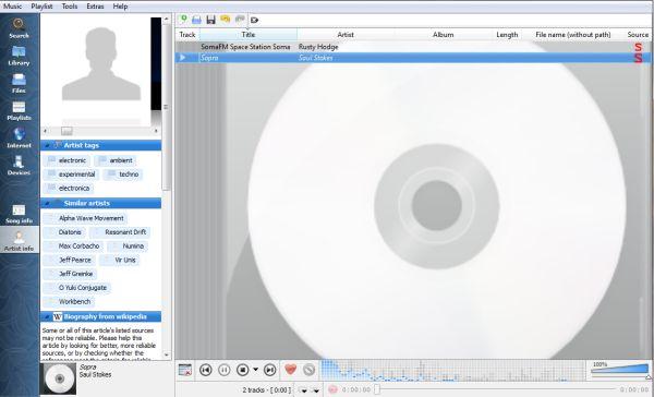 Clementine es un excelente reproductor de audio basado en Amarok