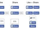 """Facebook rediseña los botones """"Me Gusta"""" y """"Compartir"""""""
