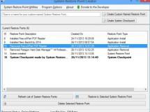 Restore Point Creator gestiona tus puntos de restauración en Windows