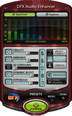 DFX Audio Enhancer: mejora el sonido del ordenador