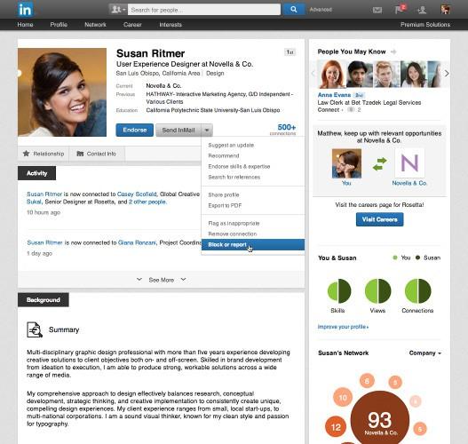 Linkedin-Block