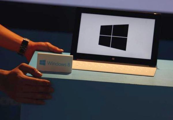 Microsoft Surface tablet is seen during launch of Microsoft Windows 8 in Hong Kong