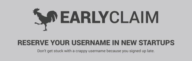 EarlyClaim reserva tu nombre de usuario en los nuevos servicios que aparezcan en Internet