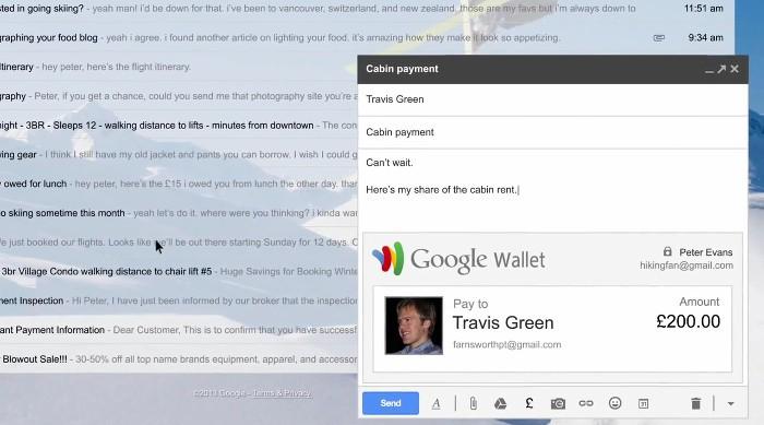 Gmail permite enviar dinero por correo electrónico