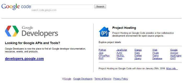 Google Code cierra porque nadie lo usa