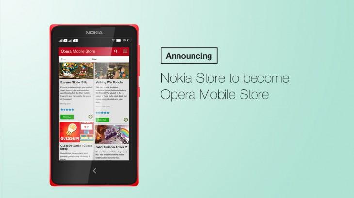 Comienza la transición de Nokia Store a la tienda de aplicaciones de Opera Mobile