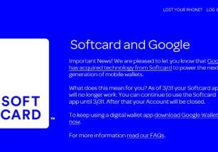 Softcard cierra el 31 de marzo, siendo reemplazado por Google Wallet