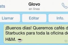 Glovo, una app con la que podrás pedir de todo vía WhatsApp