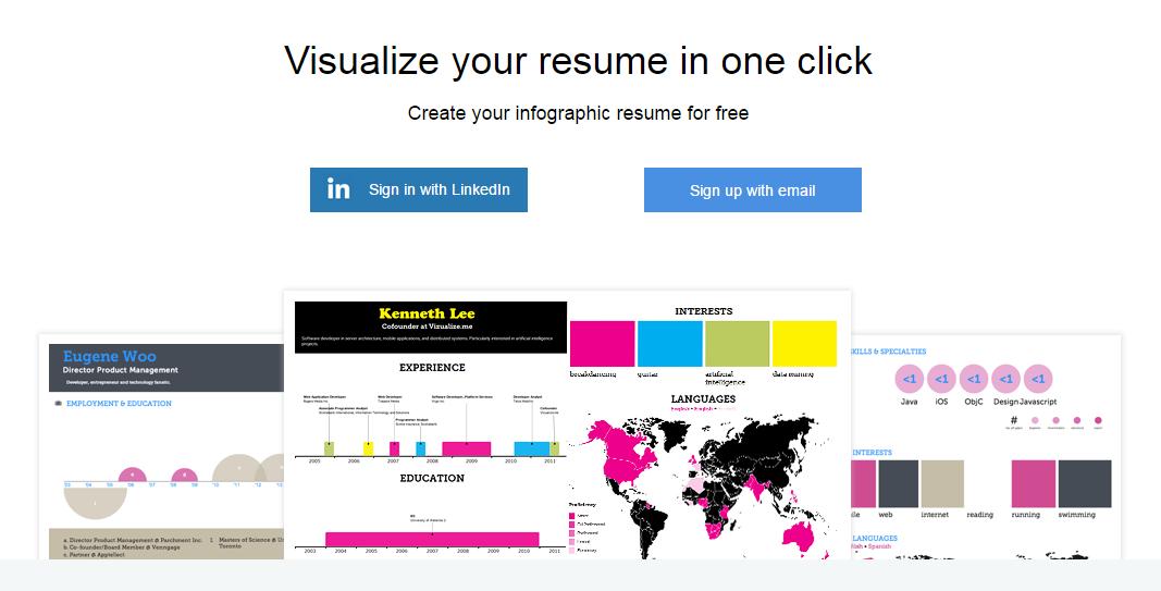 """Creando nuestro CV online con """"vizualize.me"""""""