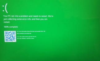 Así es la nueva Pantalla Verde de la Muerte de Windows 10