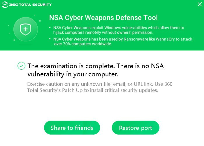 360 NSA Cyber Weapons Defense