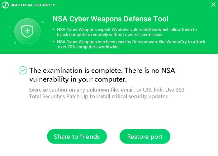 360 NSA Cyber Weapons Defense: comprobad si sois vulnerables a la NSA