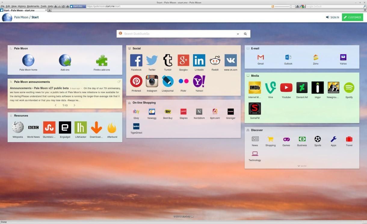Pale Moon, la alternativa a Firefox, lanza su versión 27.4