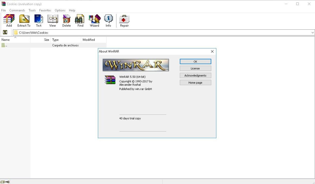 Y también disponible Winrar 5.50