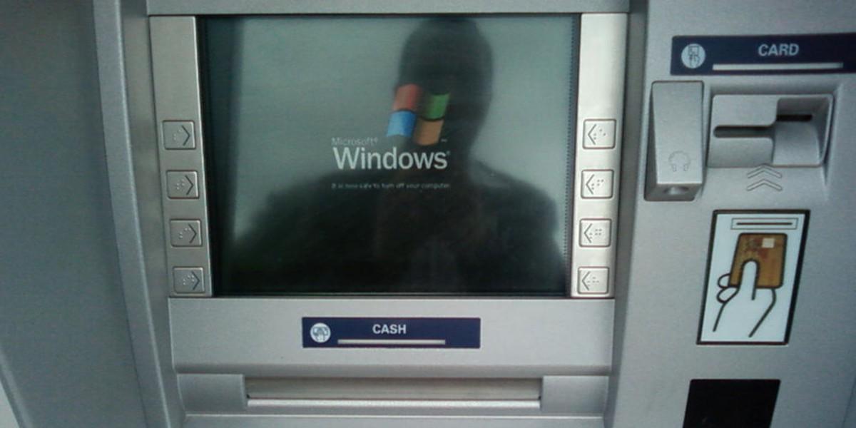 Cajeros con Windows XP: se pueden vulnerar pulsando teclas
