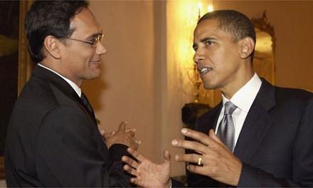 Barack Obama y Jimmy Smits