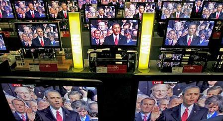 Barack Obama en un momento de la retransmisión