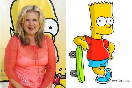 Nancy Cartwright y Bart Simpson