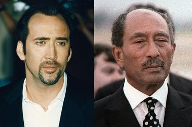 Nicolas Cage y Anwar Sadat