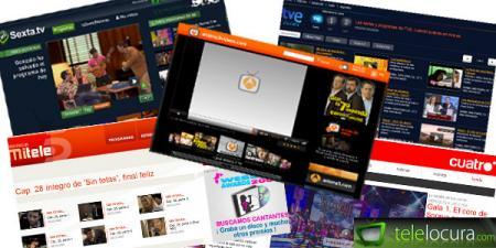 Distintas webs de los canales televisivos