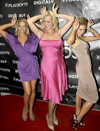 ... una fiesta al más puro estilo de la casa: con conejitas y glamour
