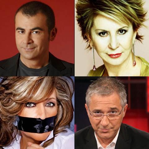 Jorge Javier Vázquez, Karmele Marchante, Javier Sarda y Lydia Lozano