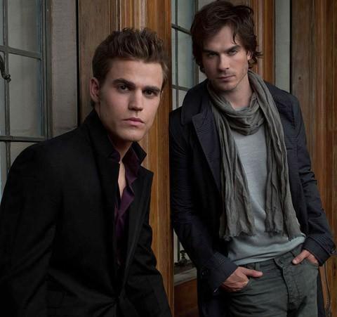 Stefan y Damon en The Vampire Diaries