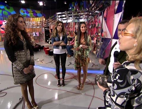 Indhira, Nagore, Carol, Águeda y Jorge Javier en Sálvame Deluxe