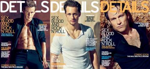 Ryan Kwanten, Alexander Skarsgård y Stephen Moyer, los chicos sexies de True Blood, portada de Details