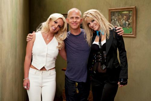Britney Spears, Ryan Murphy y Heather Morris