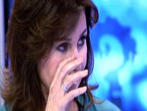 Carmen Martínez Bordiú llora