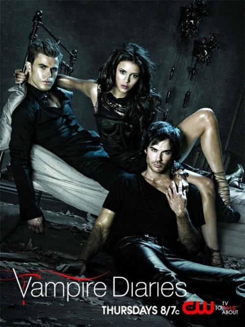 Poster promocional de la segunda temporada de The Vampire Diaries