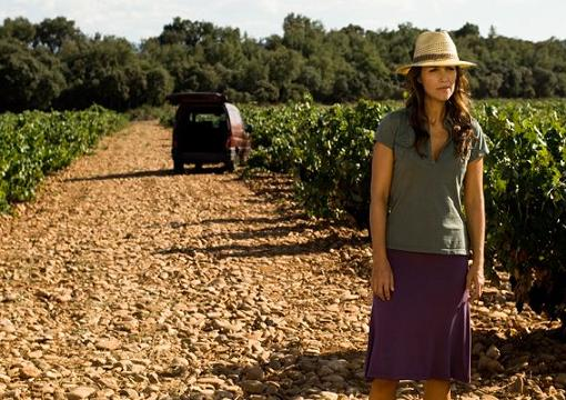 Paula Echevarría de rodaje en La Rioja