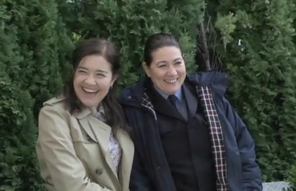 Laura Lebrel y la agente Ortega colaboran