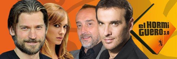 Nikolaj Coster-Waldau, Gonzalo de Castro, Luis Merlo y Marta Hazas en El Hormiguero 3.0