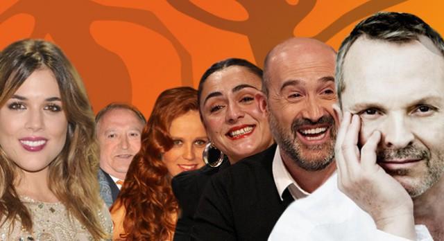 Miguel Bosé, Candela Peña, Javier Cámara, Esteso, María Castro y Adriana Ugarte en El Hormiguero