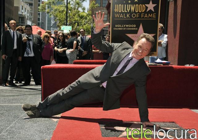 Bryan Cranston (Breaking Bad) consigue su estrella en el Paseo de la Fama de Hollywood