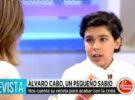 Álvaro Cabo, de 11 años, se estrena como contertulio político en El programa del verano