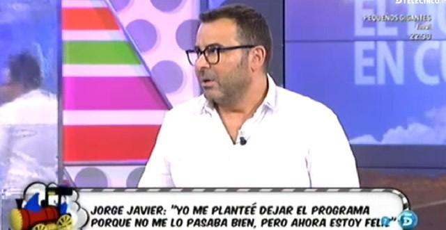 Jorge Javier Vázquez estuvo a punto de dejar Sálvame