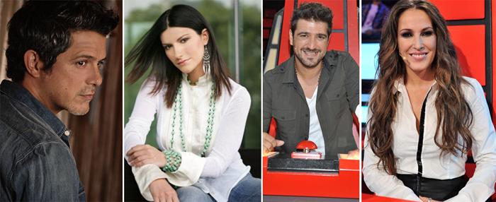 Alejandro Sanz, Laura Pausini, Malú y Antonio Orozco, coaches de la tercera edición de La voz