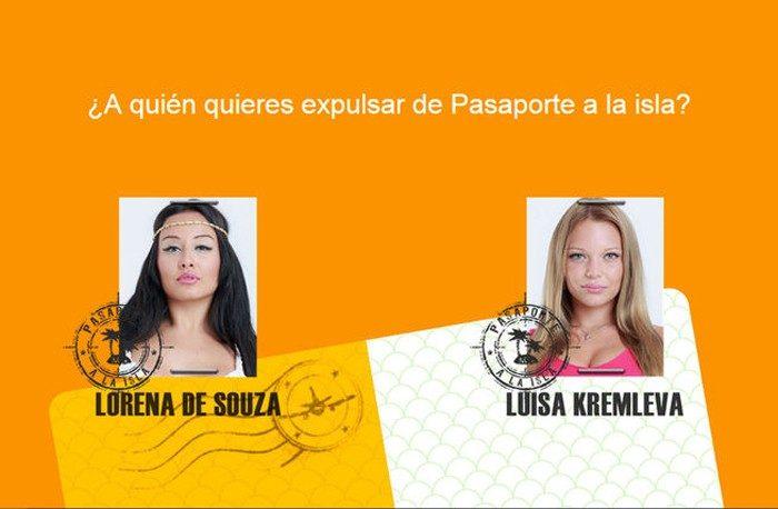Lorena da Souza y Luisa Kremleva primeras nominadas de Pasaporte a la isla