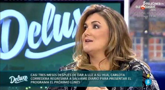 Carlota Corredera sustituta de Paz Padilla en Sálvame diario