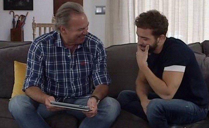Bertín Osborne anfitrión en la entrevista a Pablo Alborán