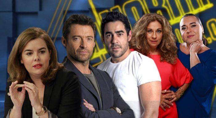 Hugh Jackman, Soraya Sáenz de Santamaría, Falete, Lolita y Pablo Chiapella en El Hormiguero 3.0
