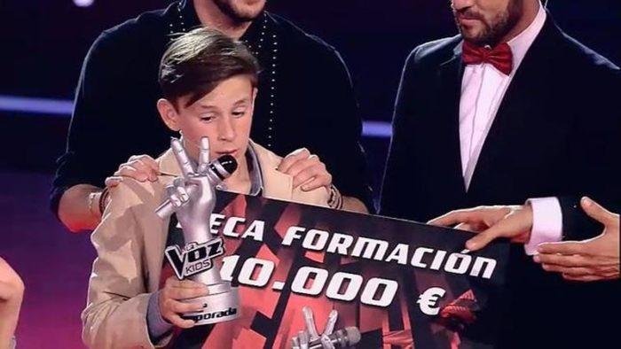 José María, del equipo de Manuel Carrasco, gana la segunda edición de La Voz Kids
