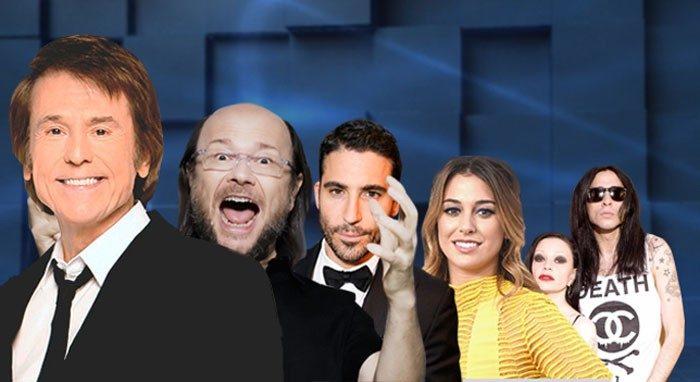 Raphael y Blanca Suárez; Santiago Segura, Alaska y Mario Vaquerizo y Miguel Ángel Silvestre en El hormiguero