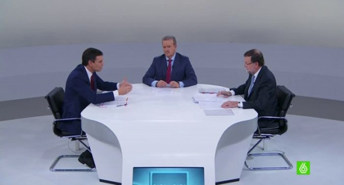 laSexta lideró en la emisión del debate Cara a cara 2015
