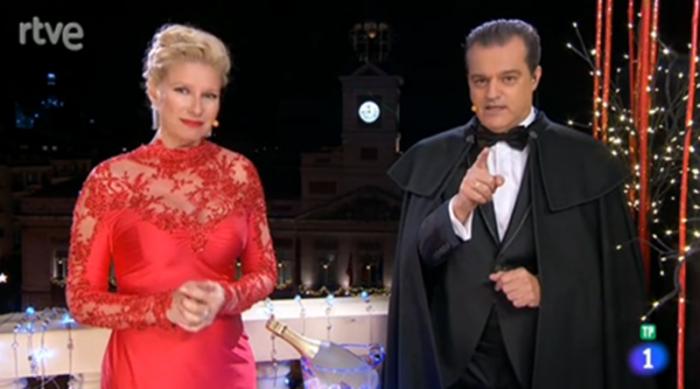 La 1 lidera las Campanadas 2015 y Antena 3 con Cristina Pedroche se sitúa en segunda posición
