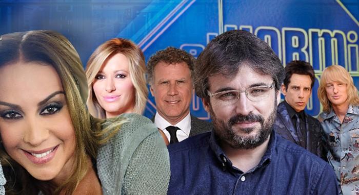 Ben Stiller, Owen Wilson y Will Ferrell, Mónica Naranjo, Jordi Évole y Susanna Griso en El hormiguero